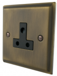 Deco Plate Antique Bronze 2 & 5 Amp Plug Sockets
